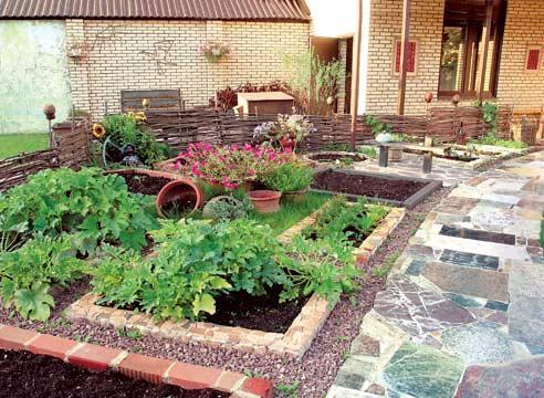 Декоративный огород украшение