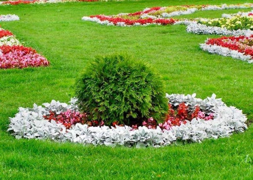 Оформление цветников на даче фото