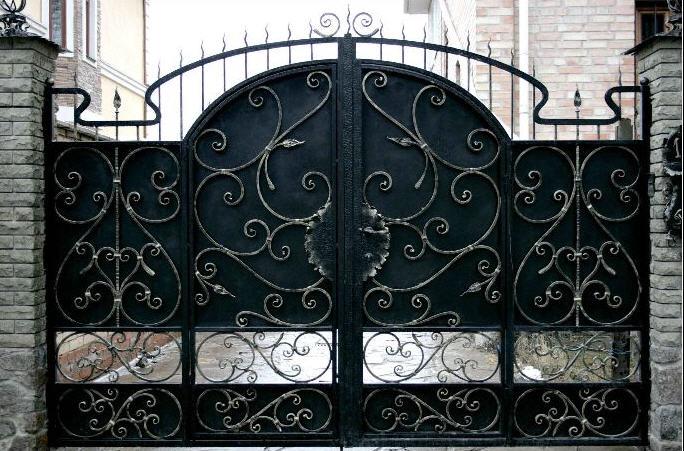 Ворота откатные из профлиста своими руками