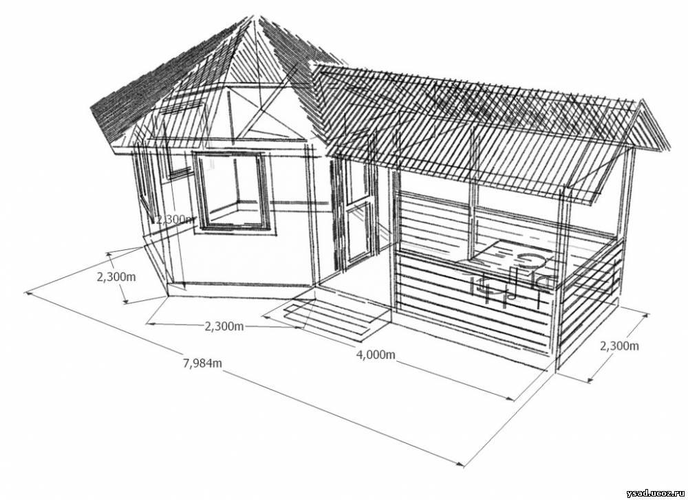 Cтроительство летней кухни на даче