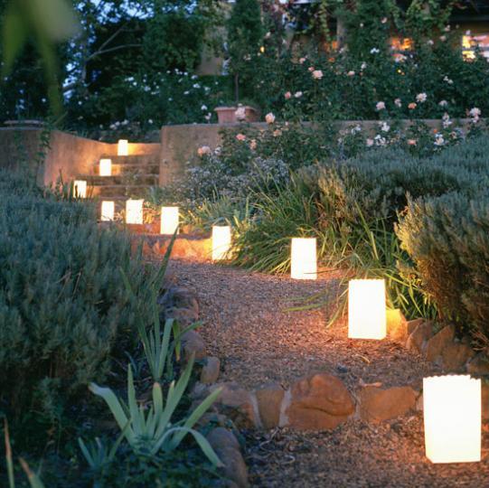 Садовое освещение на солнечных батареях
