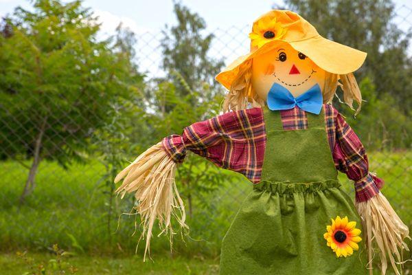сделать огородное пугало своими руками