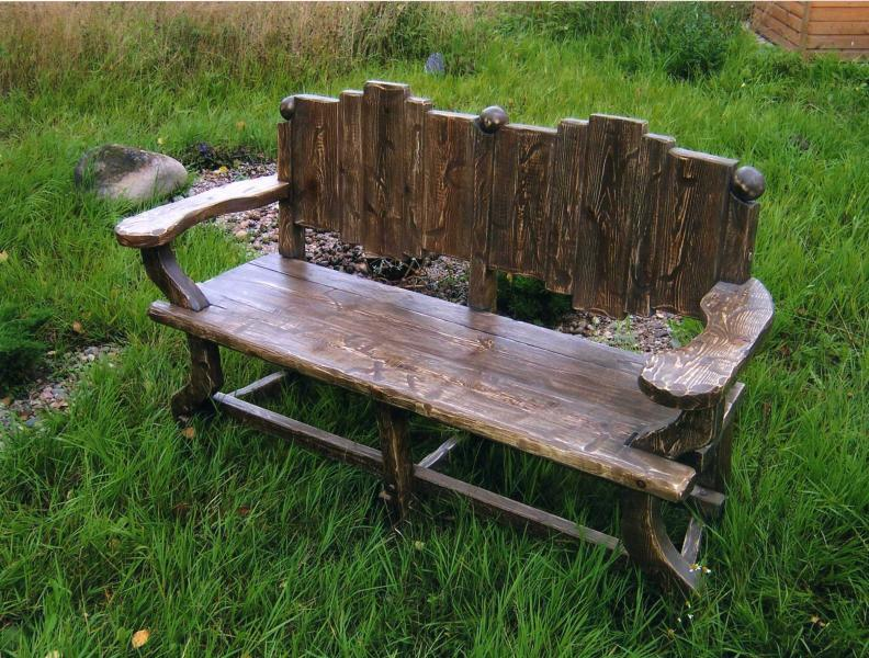 Деревянные скамейки для дачи фото