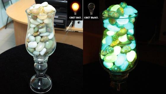 Как сделать светящийся камень