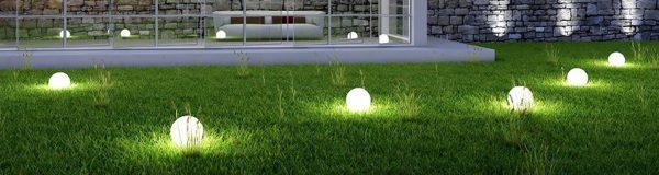 Освещение газона