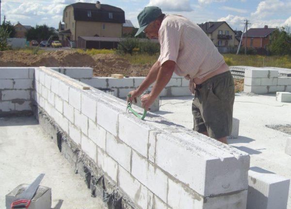 Стены из ячеистого бетона
