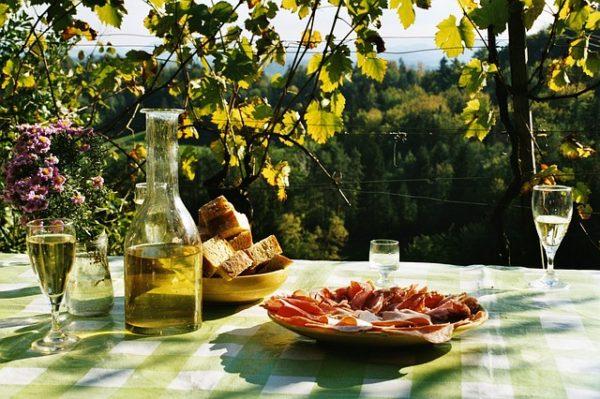 вино на даче