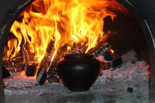 печка на даче